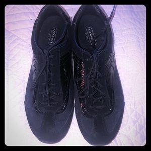 Coach black sneakers - size 7 1/2
